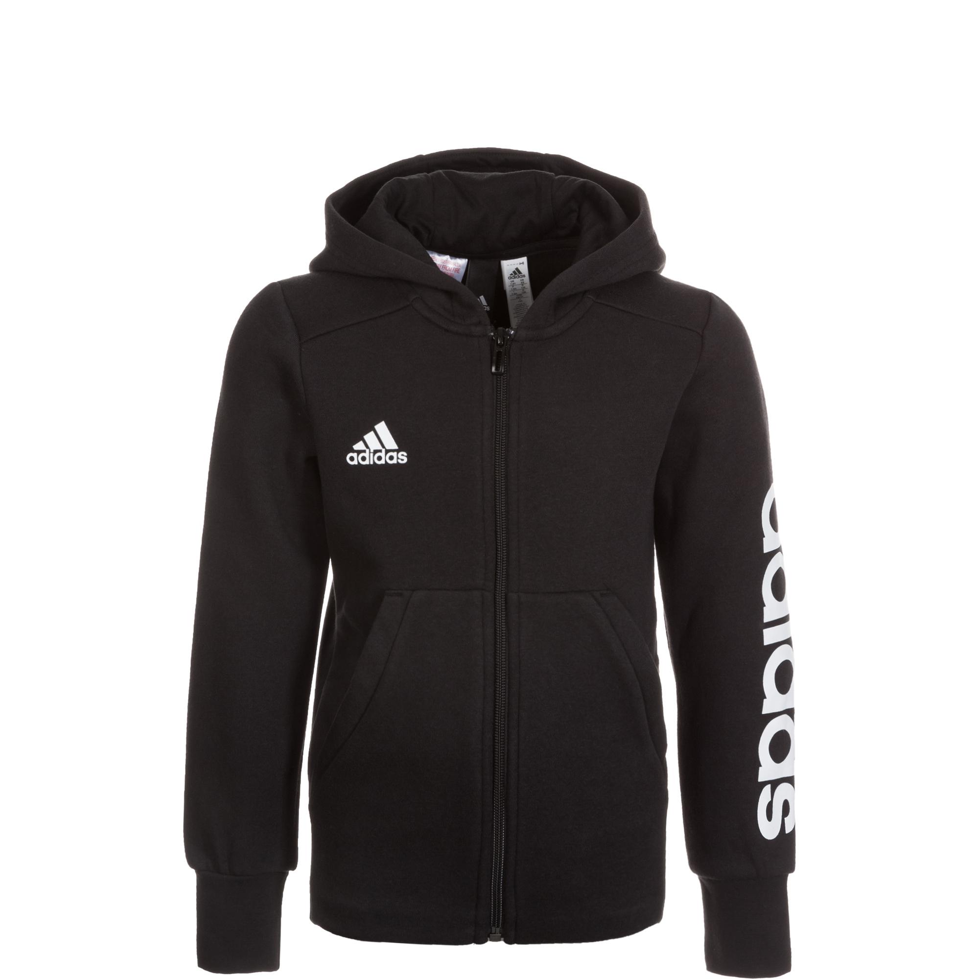 Image of   Adidas Linear FZ hættetrøje til Piger