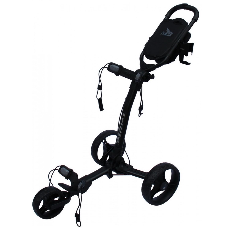 Image of   Tri-Lite Axglo golfvogn på tilbud - Sort stel med sorte hjul