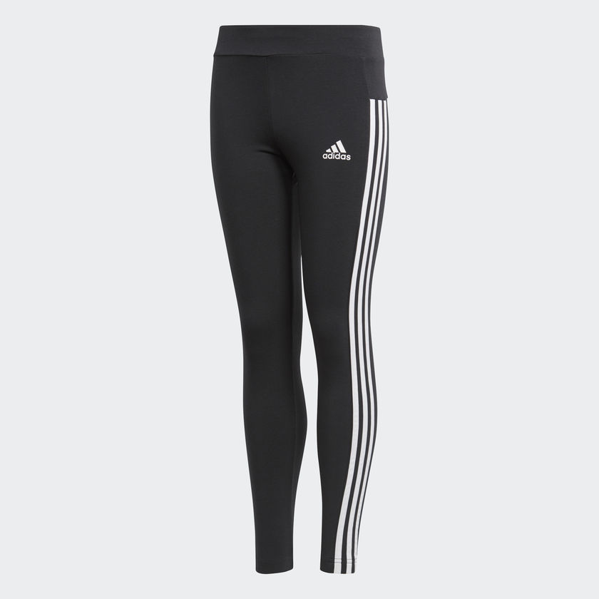 Image of   Adidas Essentials 3-Stripes tights til piger - Sort