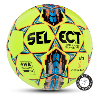 Image of   Select Brillant Super TB fodbold ALKA Superliga i GUL