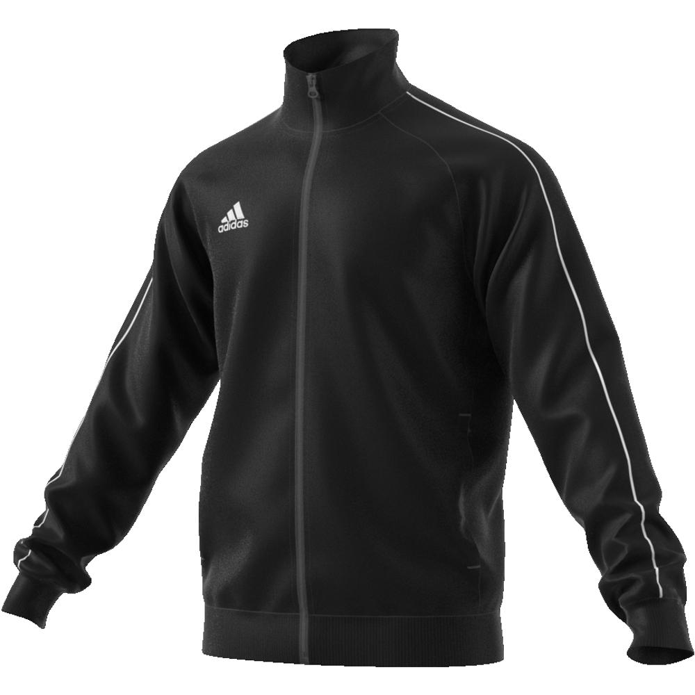 Image of   Adidas Core 18 PES polyester træningsjakke til voksne i Sort