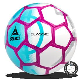 Image of   Select Classic 47 mini fodbold til børn i Tyrkis/Pink