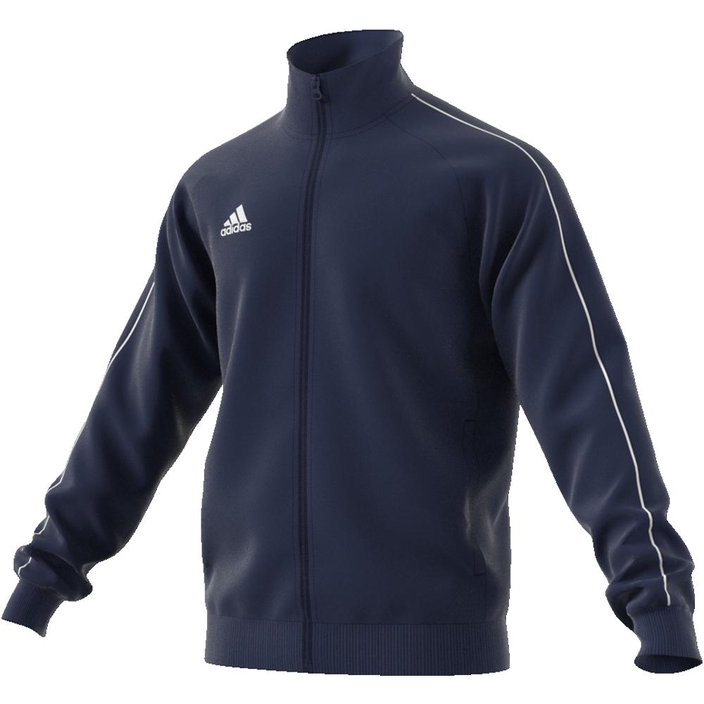 Image of   Adidas Core 18 PES polyester træningsjakke til voksne i Marine