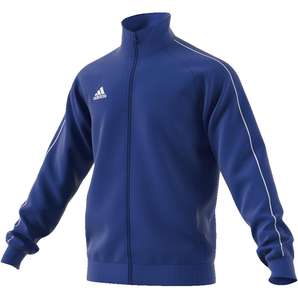 Image of   Adidas Core 18 PES polyester træningsjakke til voksne i Blå