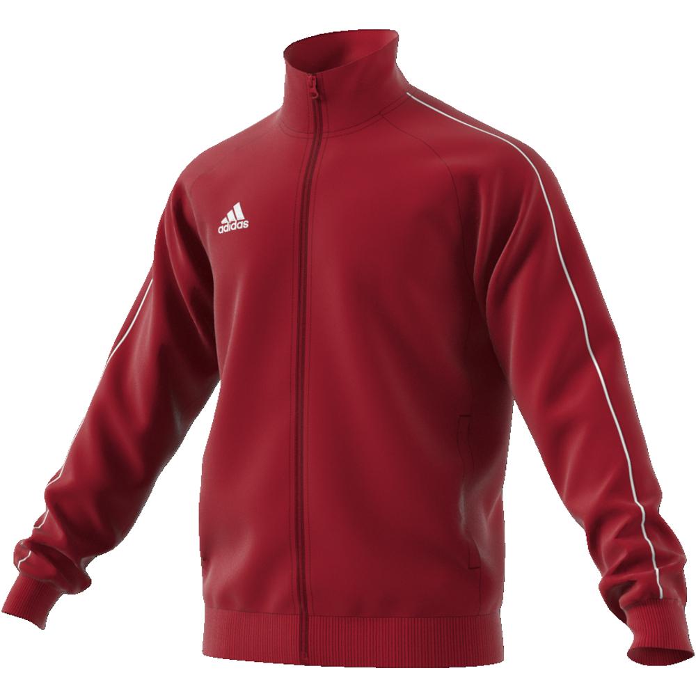 Image of   Adidas Core 18 PES polyester træningsjakke til voksne i Rød