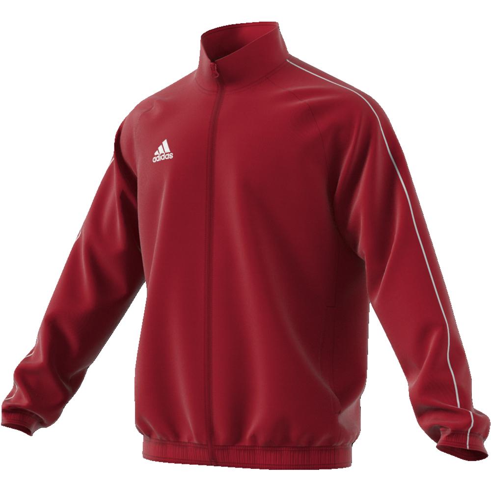 Image of   Adidas Core 18 Presentation træningsjakke til voksne i Rød
