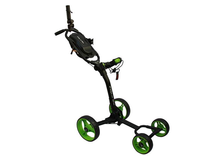 Image of   Flip n Go 4-hjul golfvogn på tilbud Sort med Sortgrønne hjul -...