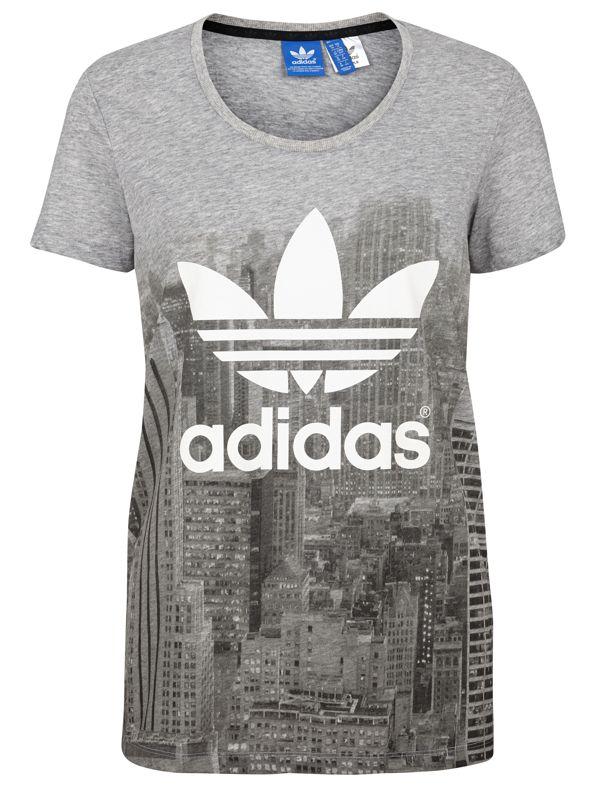 Image of   Adidas City Print T-Shirt til kvinder