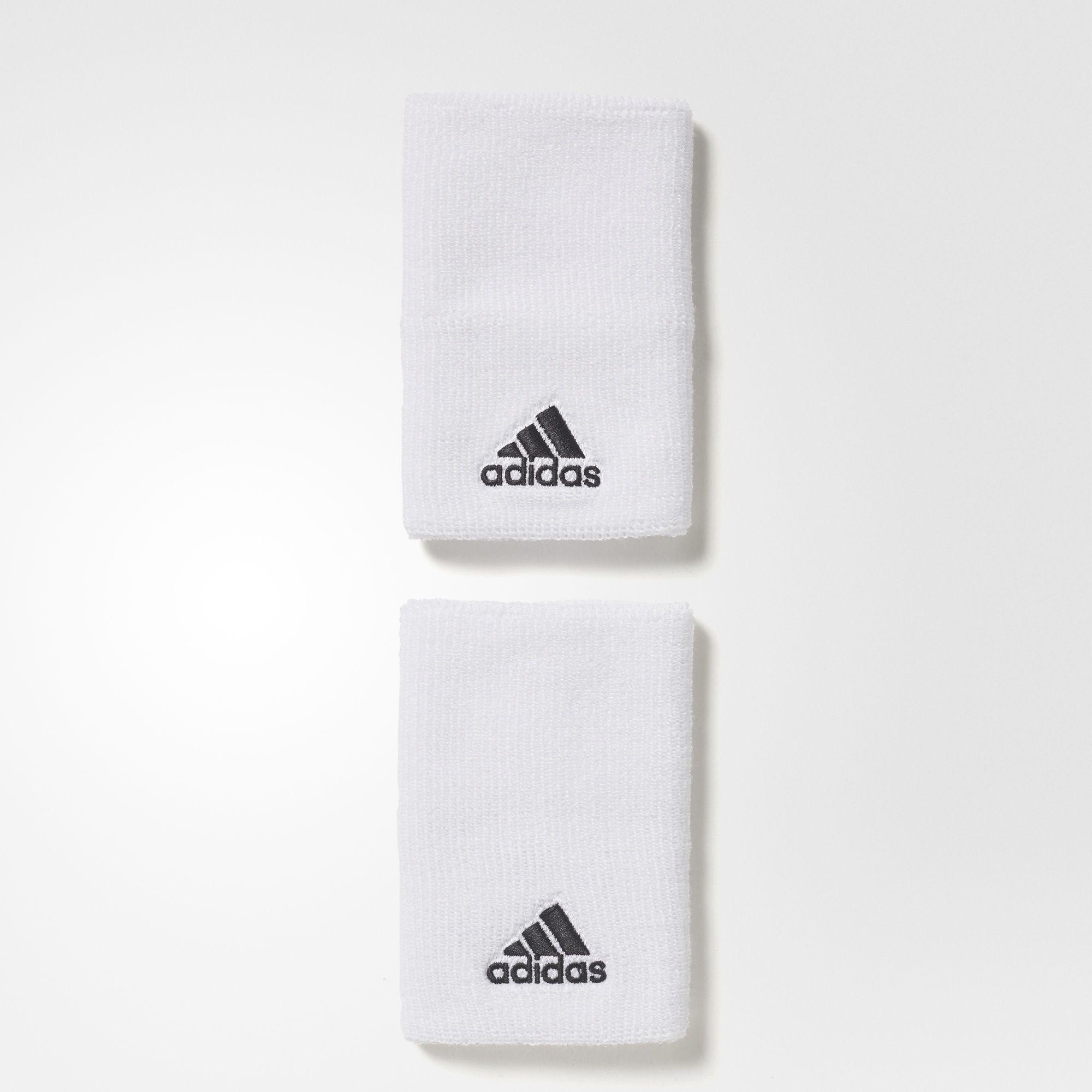 Image of   Adidas svedbånd i hvid til voksne - bred model