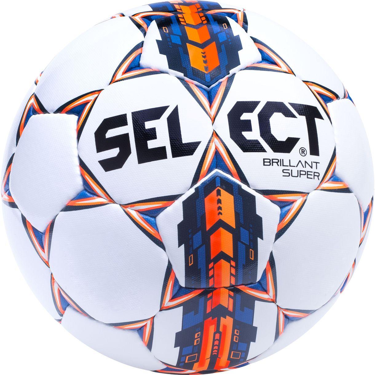 Image of   Select - Fodbold Brillant Super Hvid/Orange i Str. 5 - super tilbud
