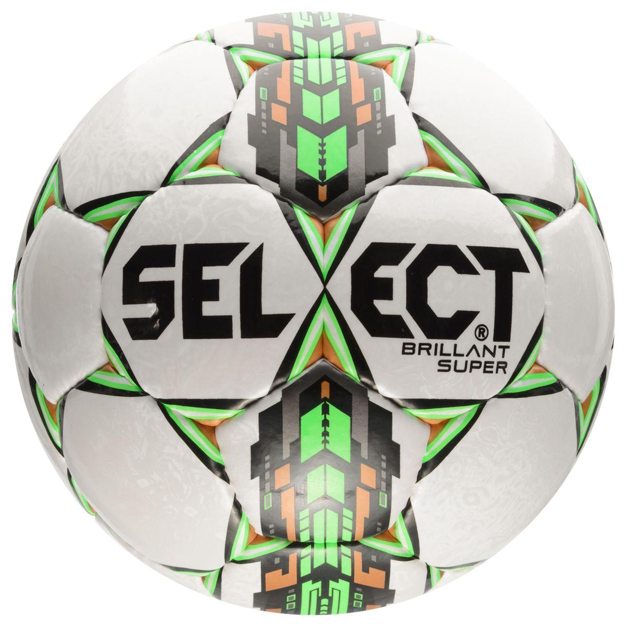 Image of   Select - Fodbold Brillant Super Hvid/Grøn i Str. 5 - super tilbud