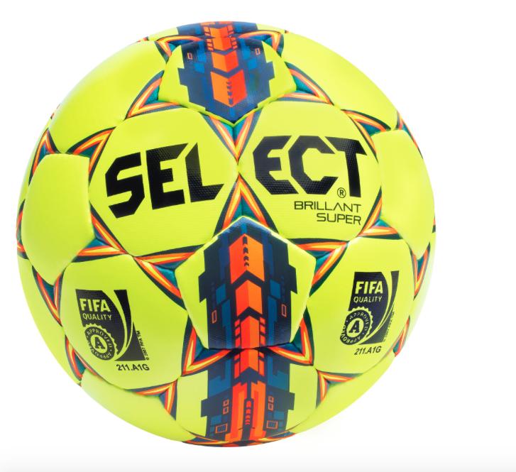 Image of   Select Brilliant Super Fodbold i Gul
